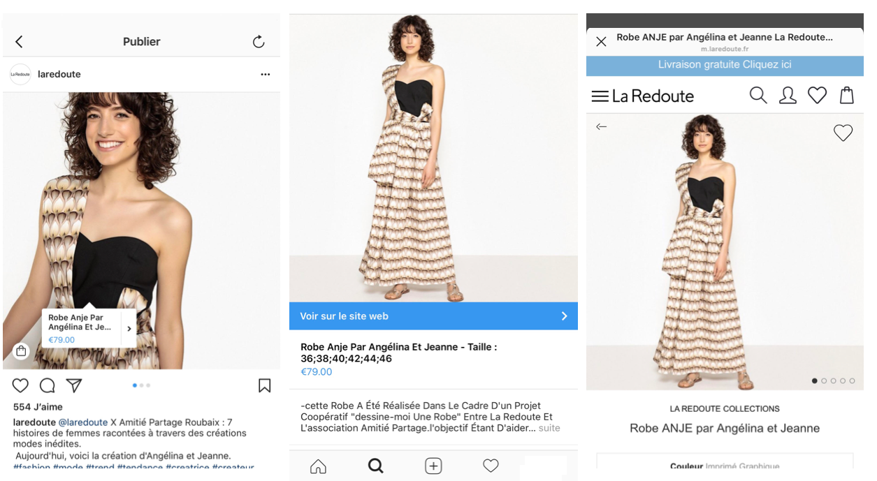 Parcours d'achat Insta Shopping